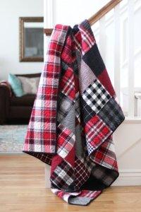 Flannel Plaid Patchwork Quilt