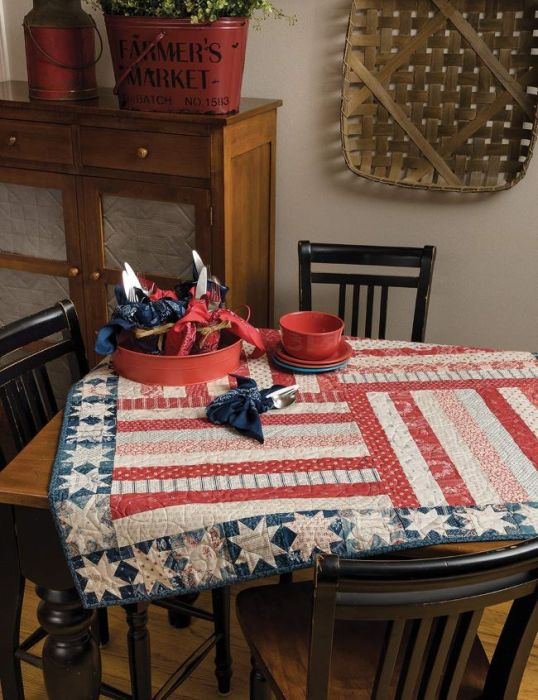 Steadfast patriotic Stars and Stripes quilt in Jessica Dayon's Seasons of Taste pattern book