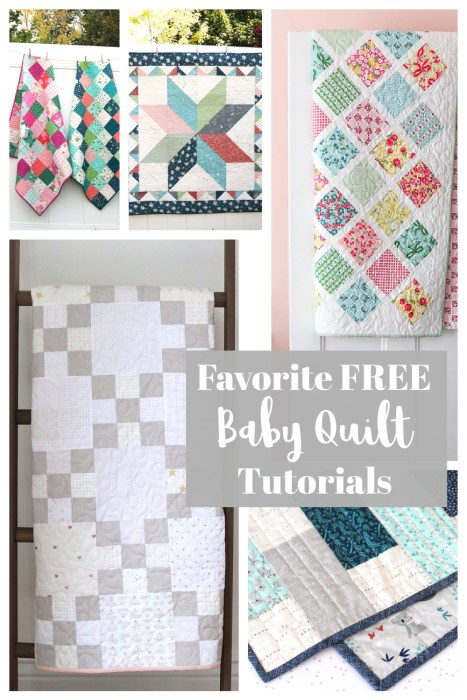 Top 15 Favorite Free Baby Quilt Tutorials from Diary of a Quilter