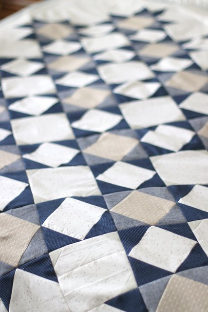 Palace Court quilt pattern by Amy Smart - featuring Riley Blake Chambray
