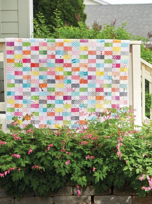 Two Step scrap quilt pattern by Amanda Jean Nyberg in Scrap School Book