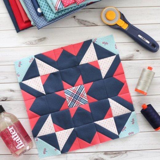Quilt Block Challenge + Tips for piecing intricate quilt blocks