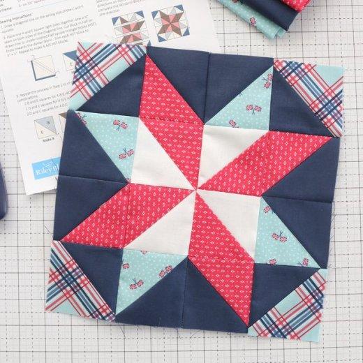 Free Quilt Block pattern - Windmill