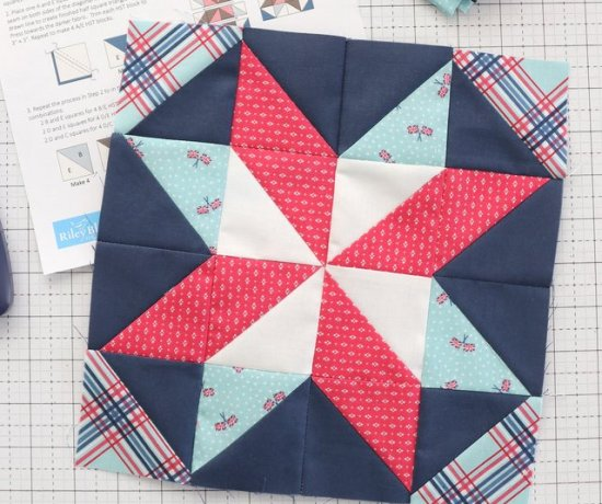Free Quilt Block pattern - Windmill