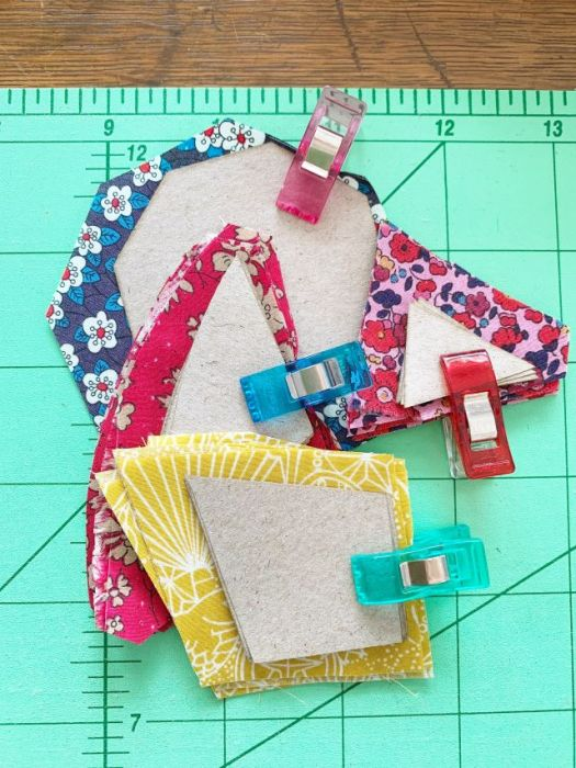 Organizing quilt pieces for English Paper Piecing