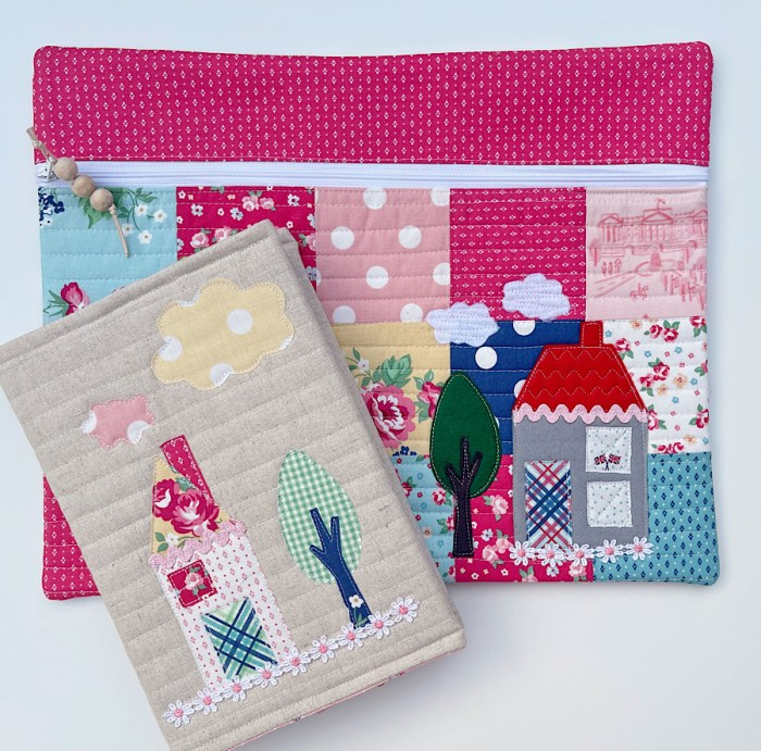 Fussy Cut Patchwork and Applique using Notting Hill Fabric by Piccolo Studio