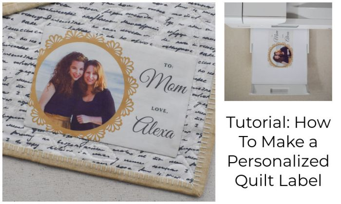 How to Make a Personalized Photo Quilt Label