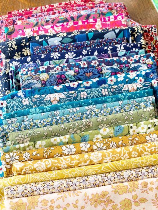 Liberty Lawns color palette for quilt