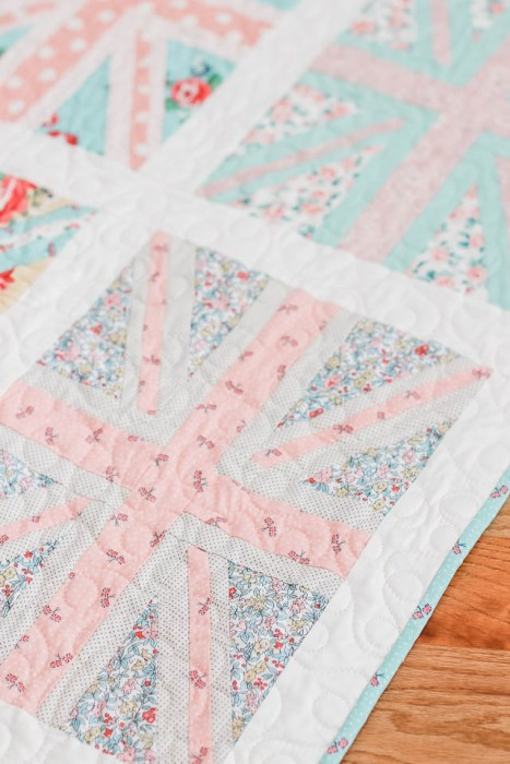 Union Jack baby quilt made by Amy Smart with Liberty fabric