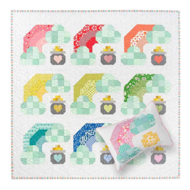 Lucky Rainbow and Pot of Gold quilt by Pen and Paper Patterns