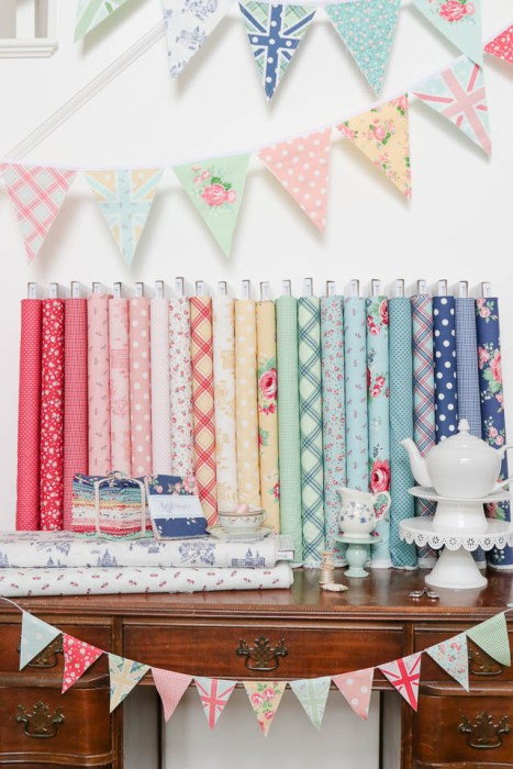 Notting Hill fabric collection by Amy Smart for Riley Blake Designs- featuring Union Jack bunting panels