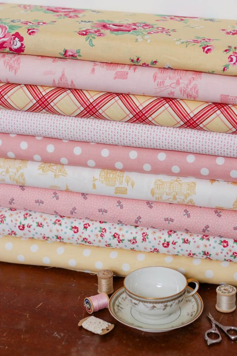 Pinks and Yellows from Notting Hill collection for Riley Blake Designs
