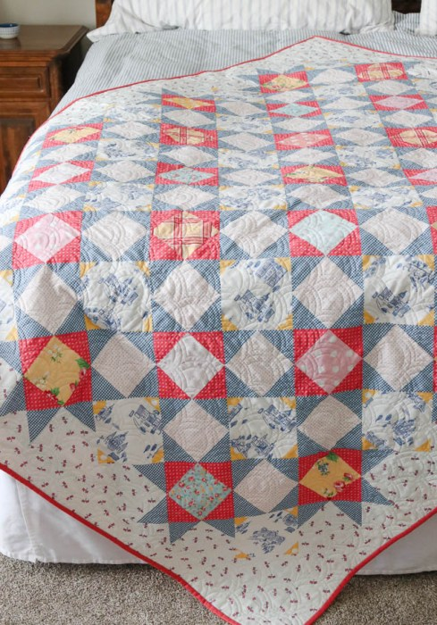 Palace Court quilt pattern by Amy Smart - featuring Notting Hill fabric collection