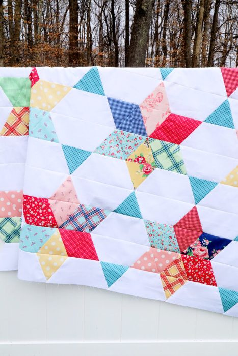Vintage Stars quilt pattern by Beverly McCullough of Flamingo Toes