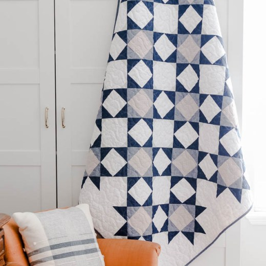 Fresh modern quilt by Amy Smart - Navy and Gray