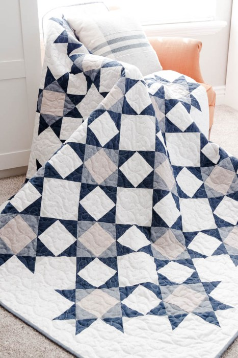 Modern Denim and Chambray quilt by Amy Smart