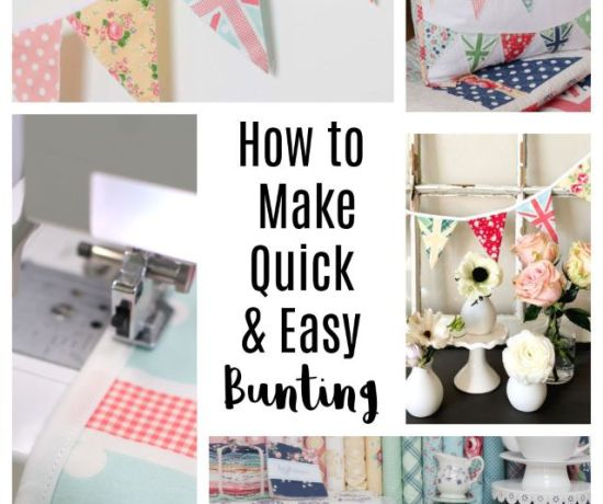 How to make quick and Easy fabric pennant bunting