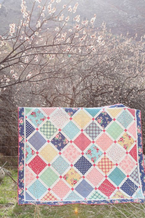 Amy Smart Lattice Quilt Pattern made with Notting Hill fabric collection