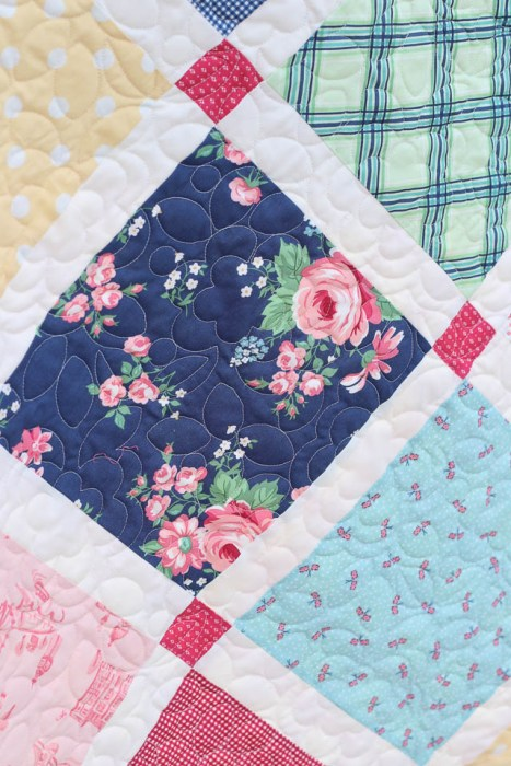 Rose quilting by Sew Shabby Quilting