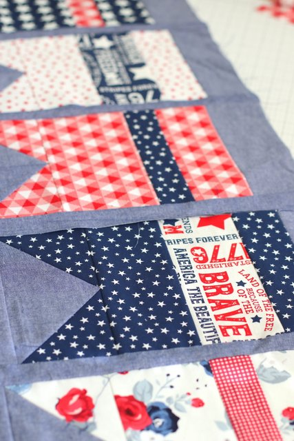 Summer Bunting Quilt pattern by Amy Smart - Patriotic Version