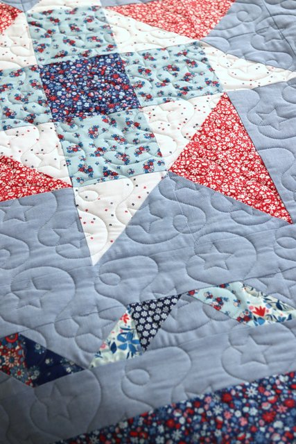 Star Free motion Quilting