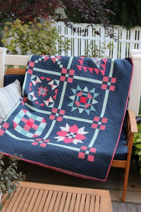 Sampler Quilt made by Amy Smart of Diary of a Quilter