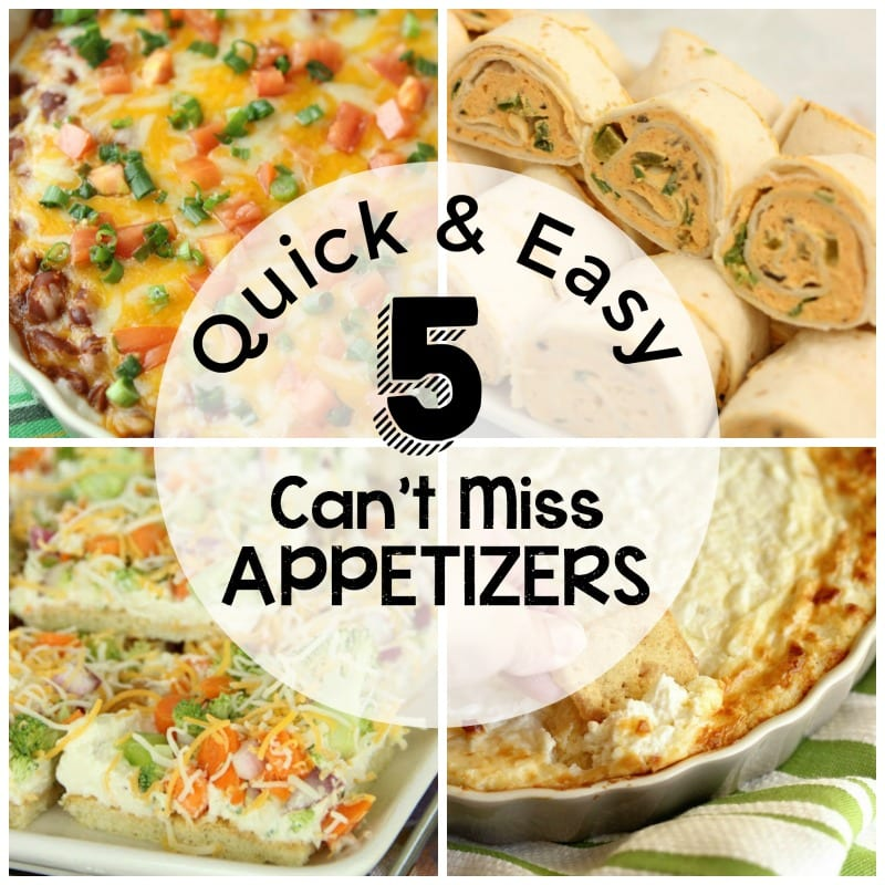 Quick and Easy Appetizers  Diary of A Recipe Collector
