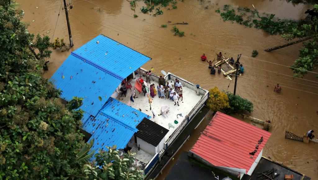 Inde: le bilan des inondations dans le Kerala s'alourdit