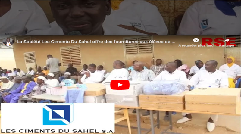 RSE: La Société Les Ciments Du Sahel offre des fournitures aux élèves de Bandia