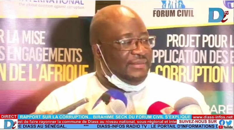 Rapport Sur La Corruption… Birahime Seck Du Forum Civil S'explique