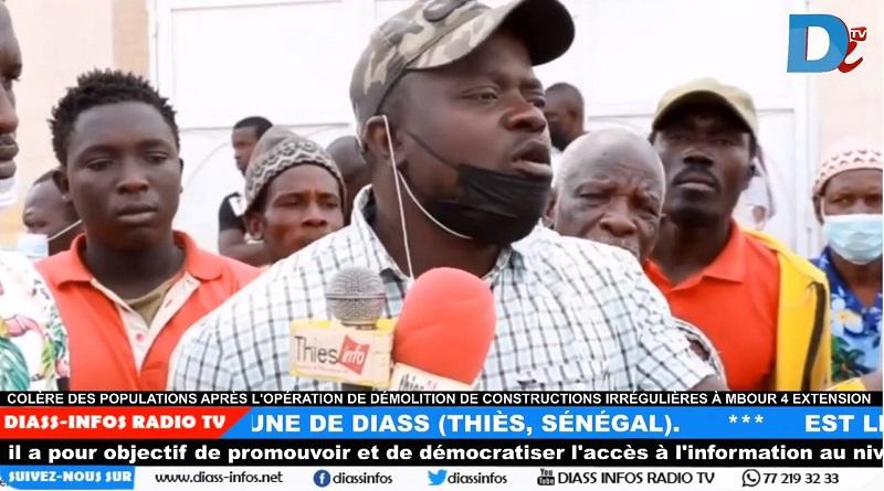 Colère des populations après l'opération de démolition de constructions irrégulières à Mbour 4 Extension.