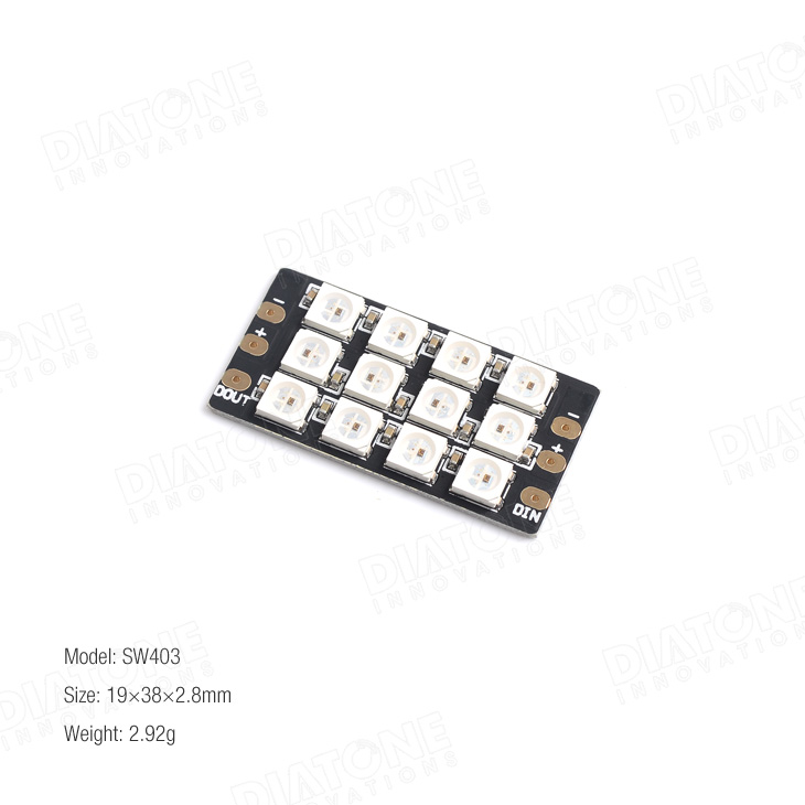 DIATONE SW403 Full Switchable Color Flash Bang 12 LED Board