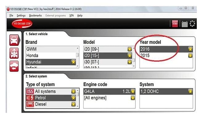 VCI DS150E OBDII Diagnostic Tool Cars & Trucks Display 1