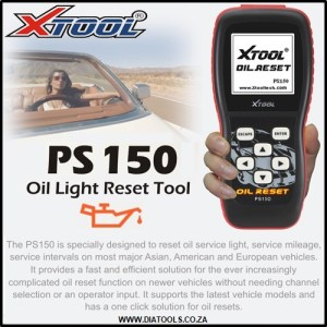 XTool PS150 OIL RESET TOOL Diatools 1A