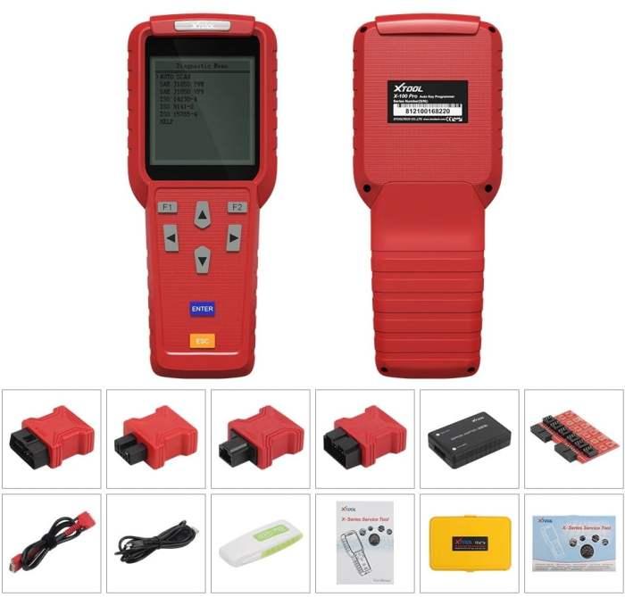 Xtool X100 Pro Handheld Car Key Programmer Package List