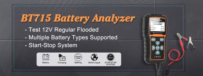 FOXWELL BT715 Battery Analyzer for 12V and 24V