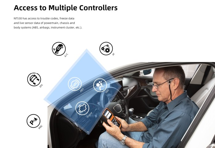 Foxwell NT530 Access to Multiple Controllers