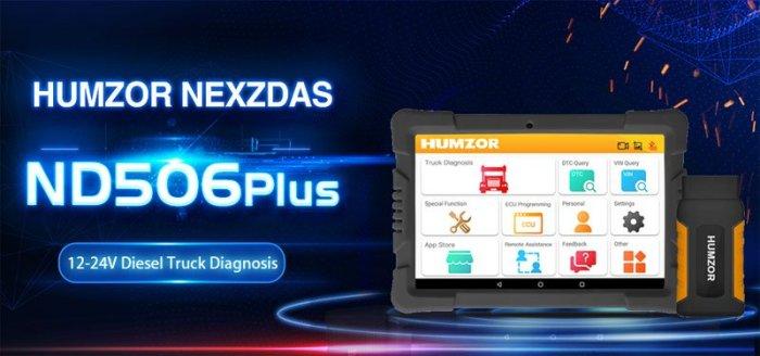 Humzor NexzDAS ND506 PLUS Heavy Duty Diagnostic Tool
