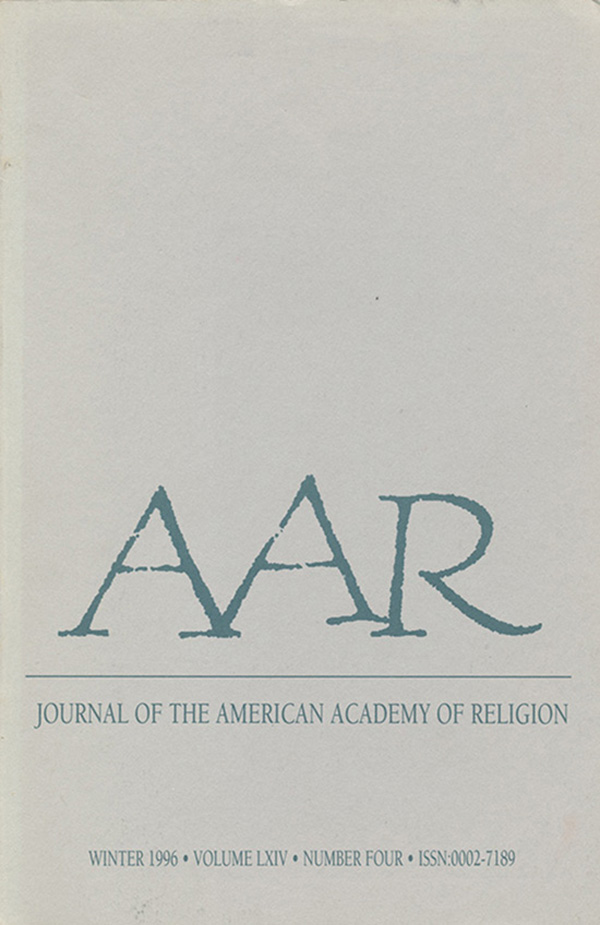 Journal of the American Academy of Religion (Vol. LXIV, No