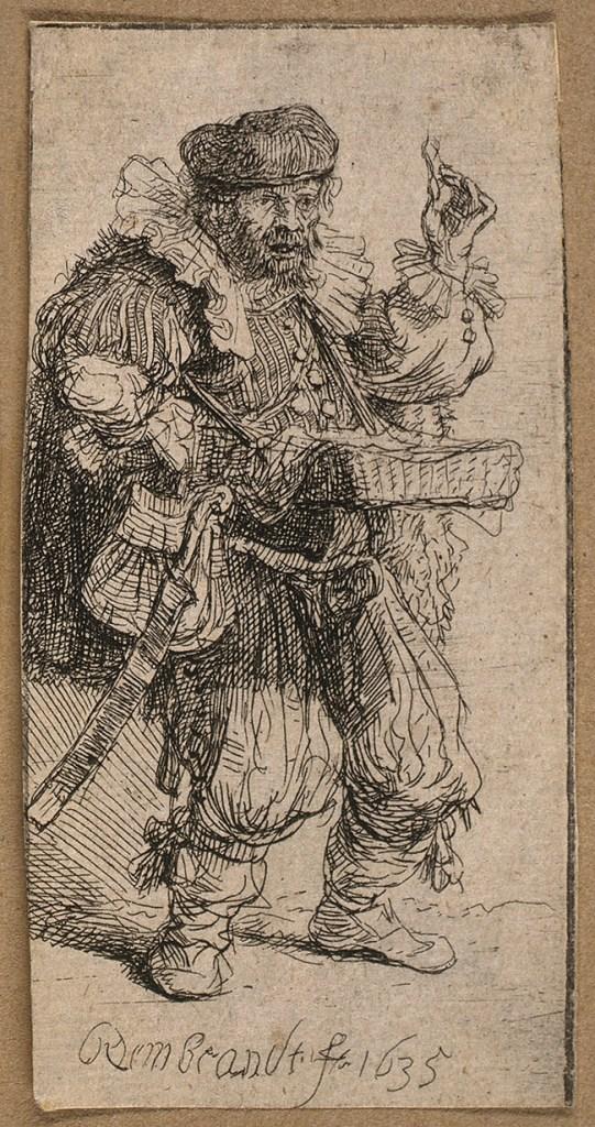 A Travelling Medicine Vendor. 1635. Image