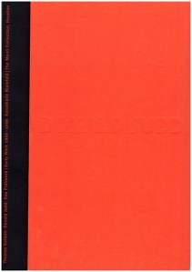 Donald Judd: The Early Works 1955-1968 (German text), book cover