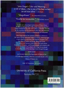 Color and Meaning: Art, Science, and Symbolism, back cover
