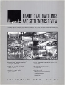 Book Cover. Traditional Dwellings and Settlements Review (Volume XII, Number 1, Fall 2005)