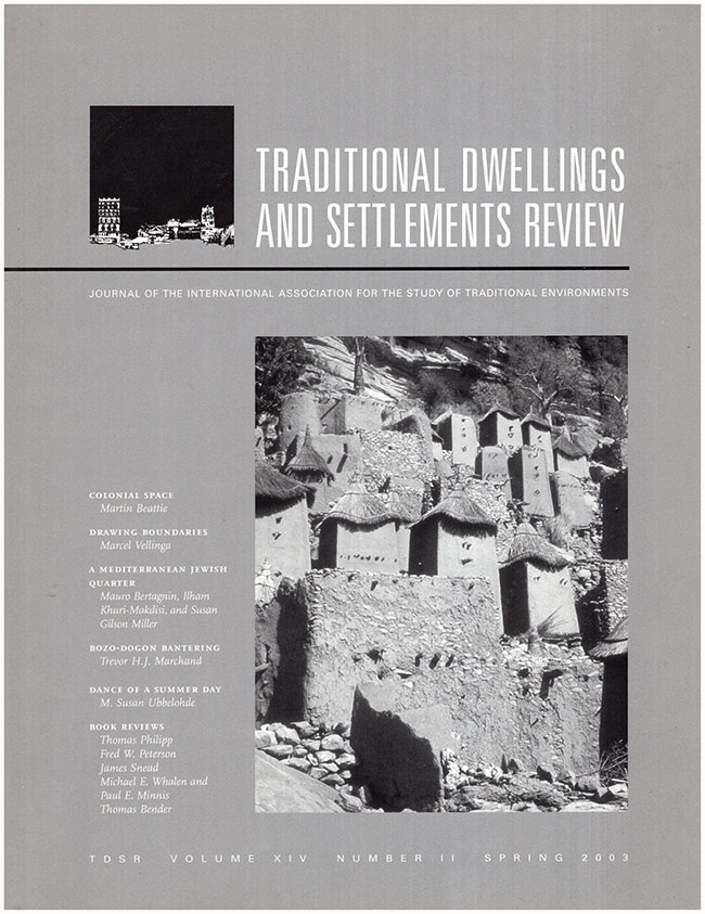 Book Cover: Traditional Dwellings and Settlements Review (Volume XIV, Number 11, Spring, 2003) (30488)
