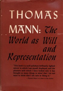 Book Cover: Thomas Mann: The World as Will and Representation