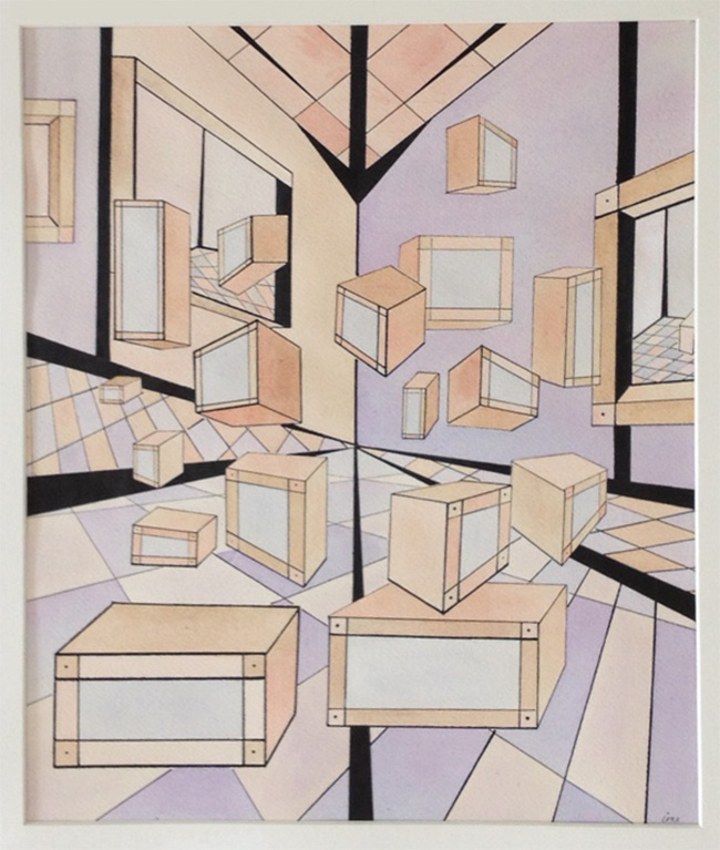 Painting: The Relativity Room #2