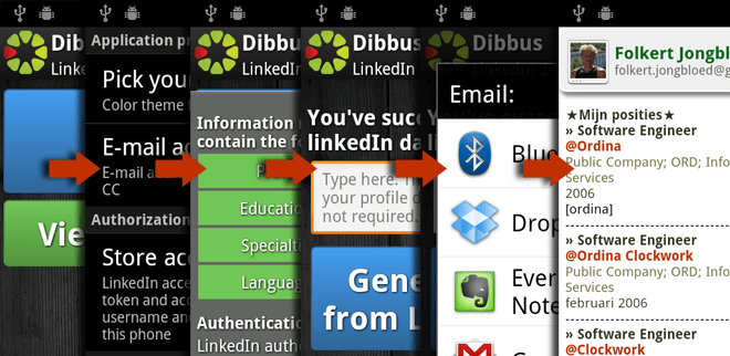 Android app: LinkedIn 2 Mail