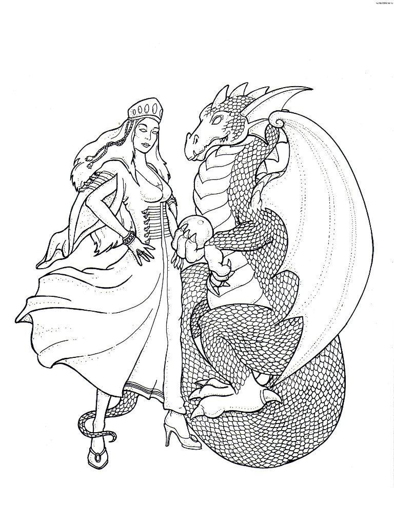 Dragn y su princesa  Imgenes y fotos