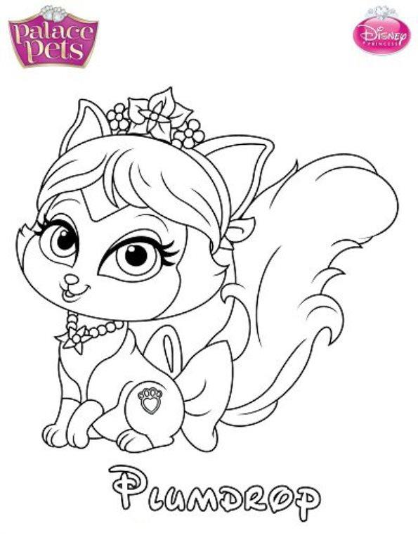 Palace Pets Coloring Pages Princess Palace Pets Coloring