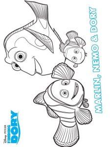 Buscando A Dory Dibujos Para Colorear